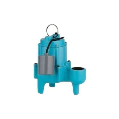 9SC-CIA-RF 4/10 HP Submersible Sewage Pump with Piggyback Mechanical Float Switch