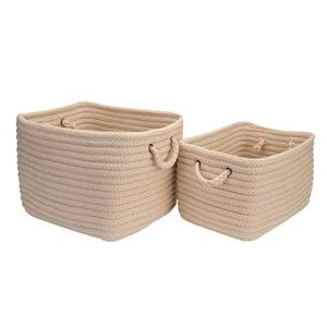 16 in. x 12 in. x 10 in. Modern Mudroom Polypropylene Storage in Linen