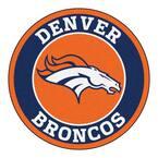 NFL Denver Broncos Navy 2 ft. x 2 ft. Round Area Rug