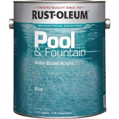 1 Gal. Marlin Blue Acrylic Pool and Fountain Paint (2-Pack)