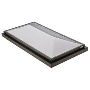 Prismatic 2 ft. x 4 ft. Fixed Curb-Mounted Double Hip Skylight
