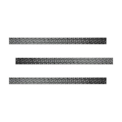 Midgar 1 in. x 18 in. Metallic Ceramic Decorative Listello Wall Tile (3-Pack)