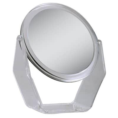 9.5 in. x 10.75 in. 1X/5X Magnification Vanity Makeup Mirror in Acrylic