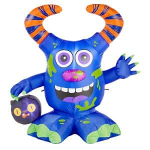 4.5 ft. Doodle Monster with Candy Bucket Airblown Halloween Inflatable