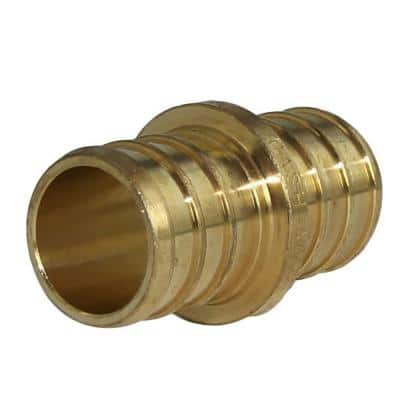 3/4 in. PEX Barb Brass Coupling Fitting (10-Pack)