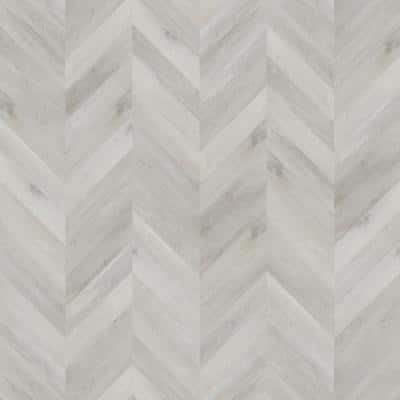 Champagne Beach Wood 12.01 in. W x 28.28 in. L Chevron Luxury Vinyl Plank Flooring (18.87 sq. ft.)