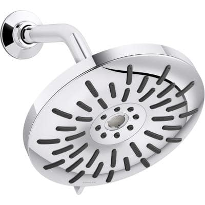 Bellerose 3-Spray Patterns 1.75 GPM 8 in. Wall Mount Fixed Shower Head in Polished Chrome