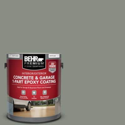 1 gal. #PFC-43 Peaceful ade Self-Priming 1-Part Epoxy Satin Interior/Exterior Concrete and Garage Floor Paint