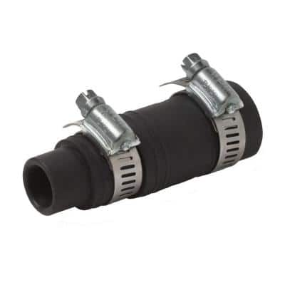 1-1/2 in. Black Rubber Dishwasher Garbage Disposal Connector