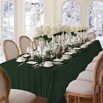 60 in. W x 84 in. L Oblong Hunter Denley Stripe Damask Fabric Tablecloth