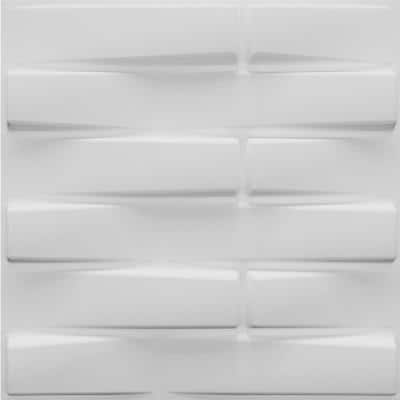 Falkirk Fifer 20 in. x 20 in. Paintable Off White Geometric Bricks Fiber Decorative Wall Paneling (10-Pack)