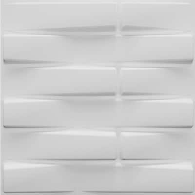 Falkirk Fifer 20 in. x 20 in. Paintable Off White Geometric Bricks Fiber Decorative Wall Paneling