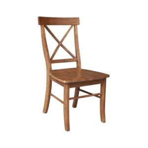 Alexa Distressed Oak X Back Dining Side Chair (Set of 2)