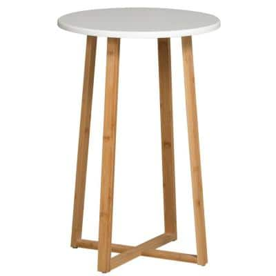 White Tall Display Table