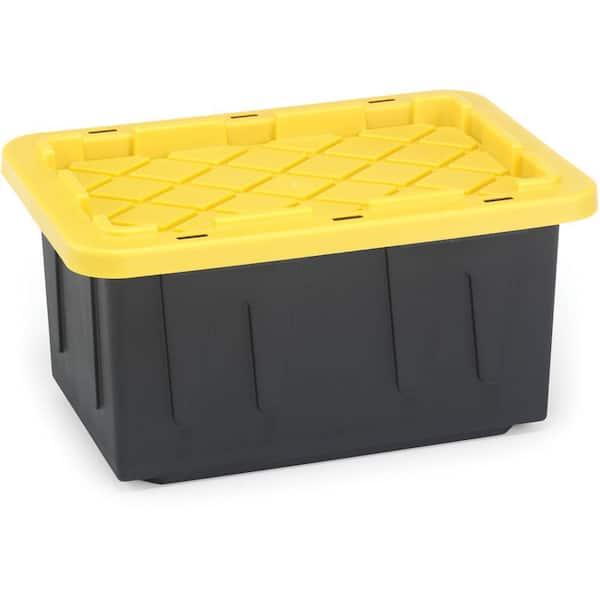 Durabilt 15 Gal Tough Tote In Black, Home Depot Storage Baskets