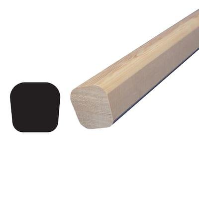1-7/16 in. x 1-7/16 in. x 96 in. Hemlock Wood Handrail Moulding