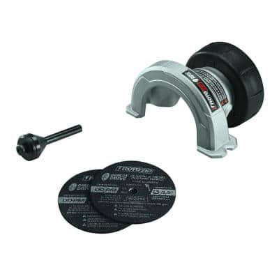 2-1/2 in. Direct Drive Cut-Off Rotary Tool Attachment for Cutting Steel and Copper and Plastic