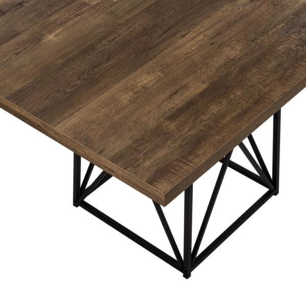 Brown Reclaimed Wood Dining Table