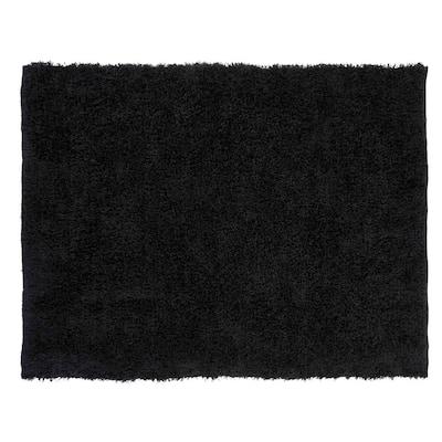 Microfiber Shag Black 5 ft. x 7 ft. Area Rug