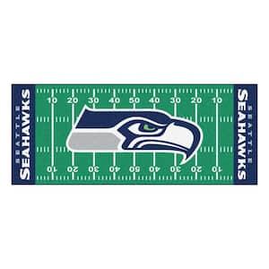Seattle Seahawks 3 ft. x 6 ft. Football Field Runner Rug