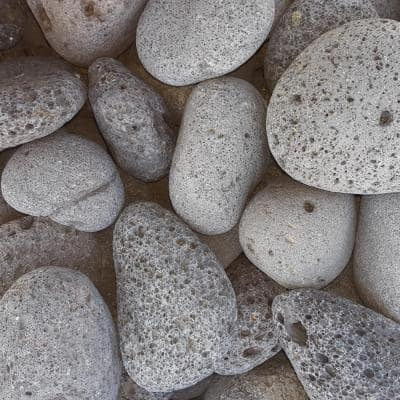 0.50 cu. ft. 40 lb. 3 in. to 5 in. Black Mexican Beach Lava Rock