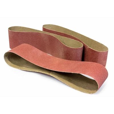 6 in. x 48 in. 240-Grit Belt Sander Sandpaper (3-Pack)