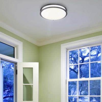 10 in. Bronze Integrated Selectable LED CCT Round Flush Mount Light