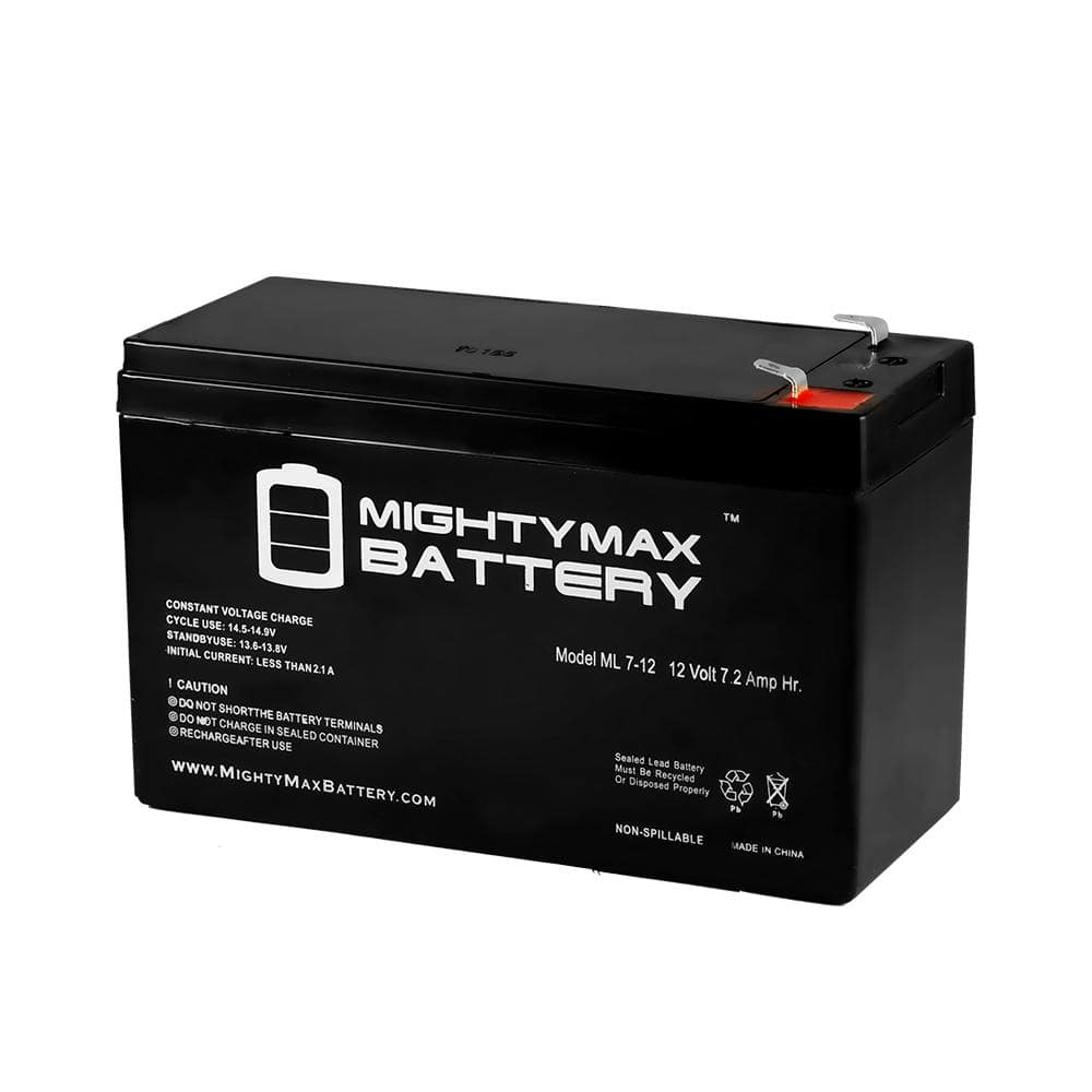MIGHTY MAX BATTERY 12-Volt 7 Ah Sealed Lead Acid (SLA) Rechargeable Battery