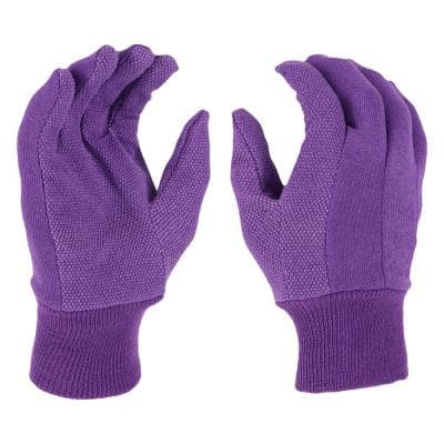 Women's Large Garden Jersey Gloves (2-Pack)