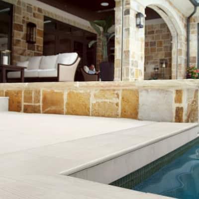 13 in. x 24 in. Caldera Blanca Matte Porcelain Pool Coping (26 Pieces/56.33 sq. ft./Pallet)