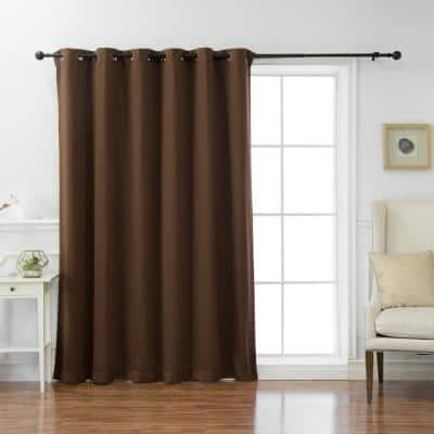 Chocolate Grommet Blackout Curtain - 80 in. W x 84 in. L