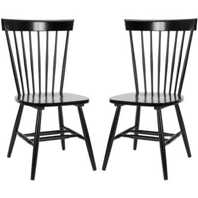 Riley Black Wood Dining Chair (Set of 2)