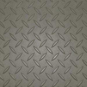 7.5 ft. x 20 ft. Pewter Textured PVC Large Car Mat