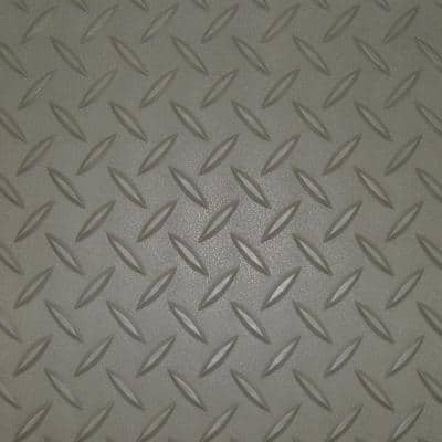 7.5 ft. x 20 ft. Pewter Textured PVC Large Car Mat