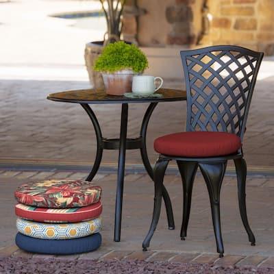 Ruby Leala Round Foam Outdoor Seat Cushion (2-Pack)