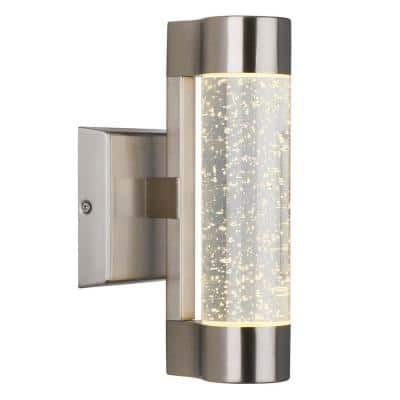 Medium Essence Stainless Steel Integrated LED Outdoor Wall Mount Cylinder Light