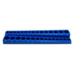 3/8 in. Drive Metric Magnetic Socket Holder (30-Piece)