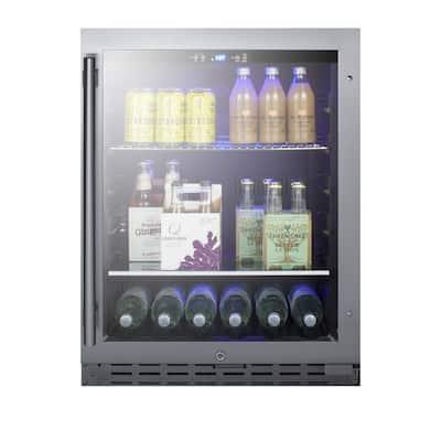 23.63 in. 80 (12 oz.) Can Cooler in Black, ADA Compliant
