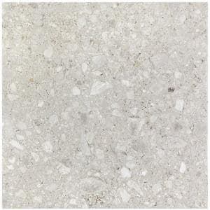 Rizzo Light Gray 24 in. x 24 in. x 9mm Semi Polished Porcelain Floor and Wall Tile (3 Pieces 11.62 Sq. Ft. / Case)