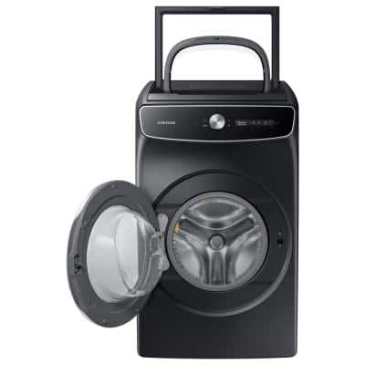 6.0 cu. ft. Total Capacity Smart Dial Washer with FlexWash and Super Speed Wash in Brushed Black