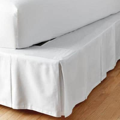Simple Tuck 18 in. Box Pleat Solid Bed Skirt