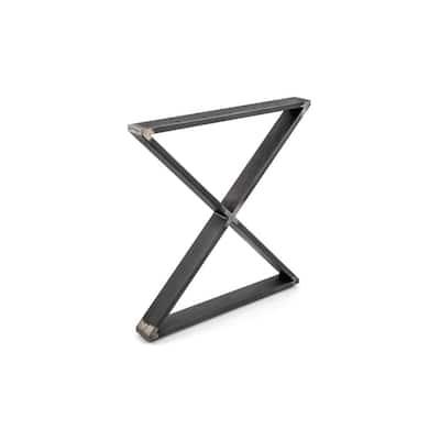 27-15/16 in. (710 mm) 200 kg Matte Black Iron, Steel X-Shaped Legs (2-Pack)