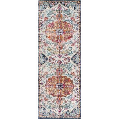 Demeter Ivory 3 ft. x 12 ft. Oriental Runner Rug