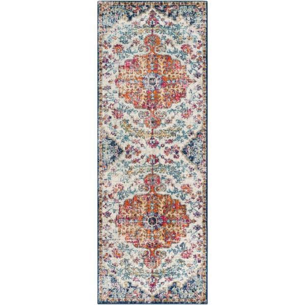 Artistic Weavers Demeter Ivory 2 Ft 7 In X 12 Ft Runner Rug S00151071953 The Home Depot