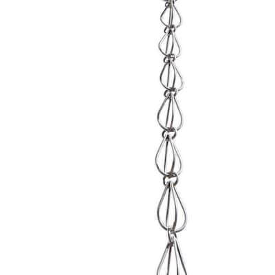 Monarch 8-1/2 ft. L Mill Finish Aluminum Teardrop Rain Chain