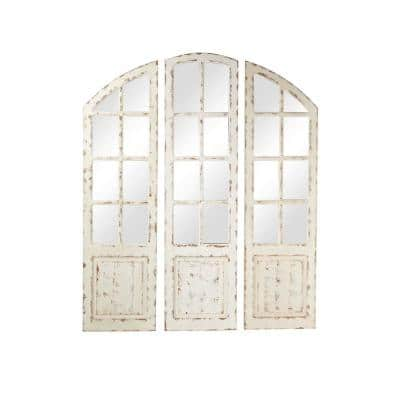 Large Irregular White Contemporary Mirror (60 in. H x 1 in. W)