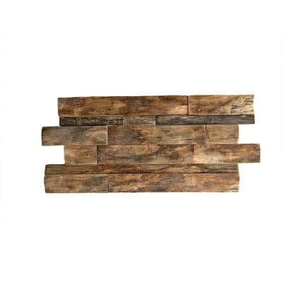 23-3/4 in. x 11-7/8 in. x 3/4 in. Shipboard Boat Wood Mosaic Wall Tile, Natural Finish