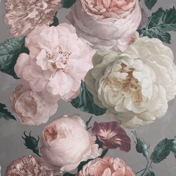 Arthouse Highgrove Floral Warm Grey Wallpaper 909302 The Home Depot