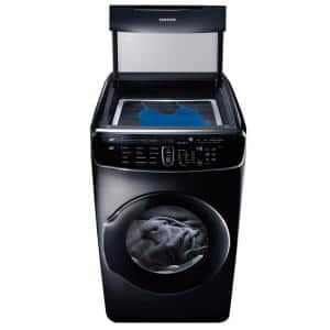 7.5 Total cu. ft. Gas FlexDry Dryer with Steam in Black Stainless