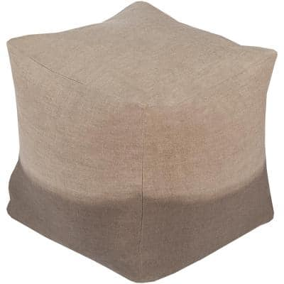 Itoku Taupe Accent Pouf